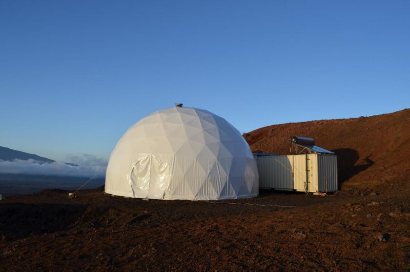 (AFP Photo/Sian Proctor) Are lovers of geodesic domes more likely than average to shut themselves away in an isolated habitat for years on end?