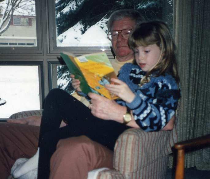 Me and Grandpa, circa 1991.