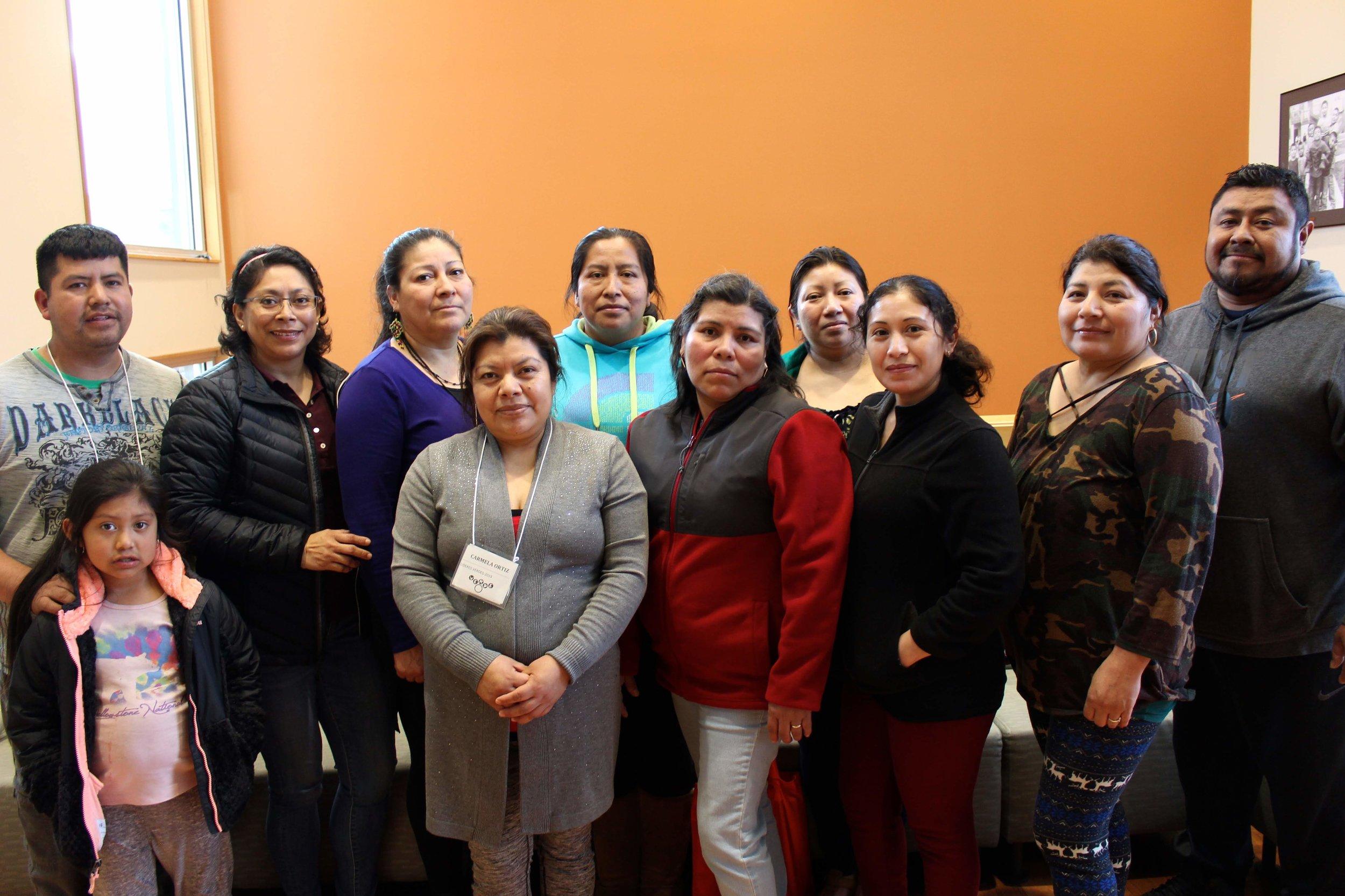 (From the left): Cirilo, Lucia, Melecia, Carmela, Olga, Isabel, Zoemy, Wendi, Felipa, Yoni