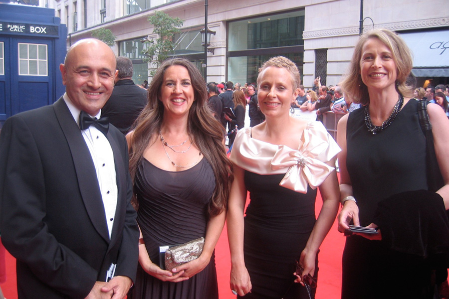 On the red carpet at the BAFTAs.