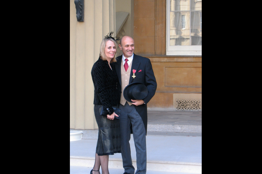 Receiving my OBE at Buckingham Palace in 2008