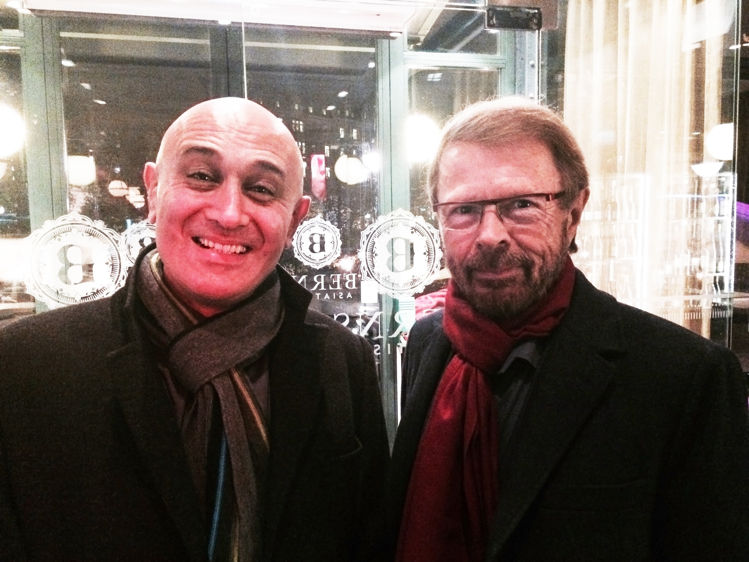 The day I had dinner with Bjorn Ulvaeus – a quite charming man.