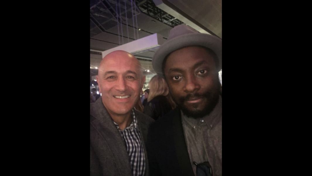 With Will.i.am at a Science Museum event in London, 2016