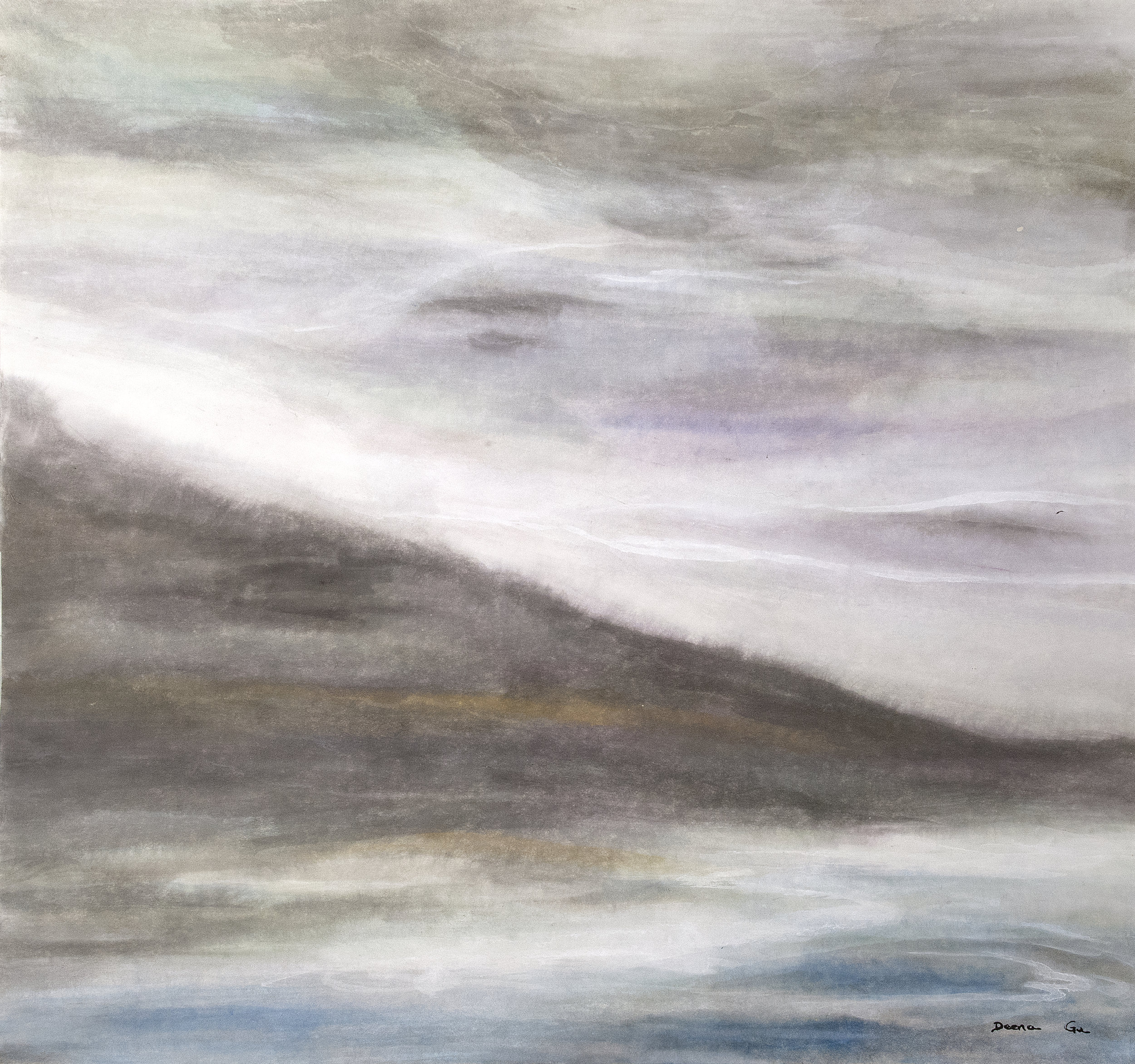 I Must Go Down to the Sea Again (2014) - Watercolor on paper, 28 3/4 x 30 in.