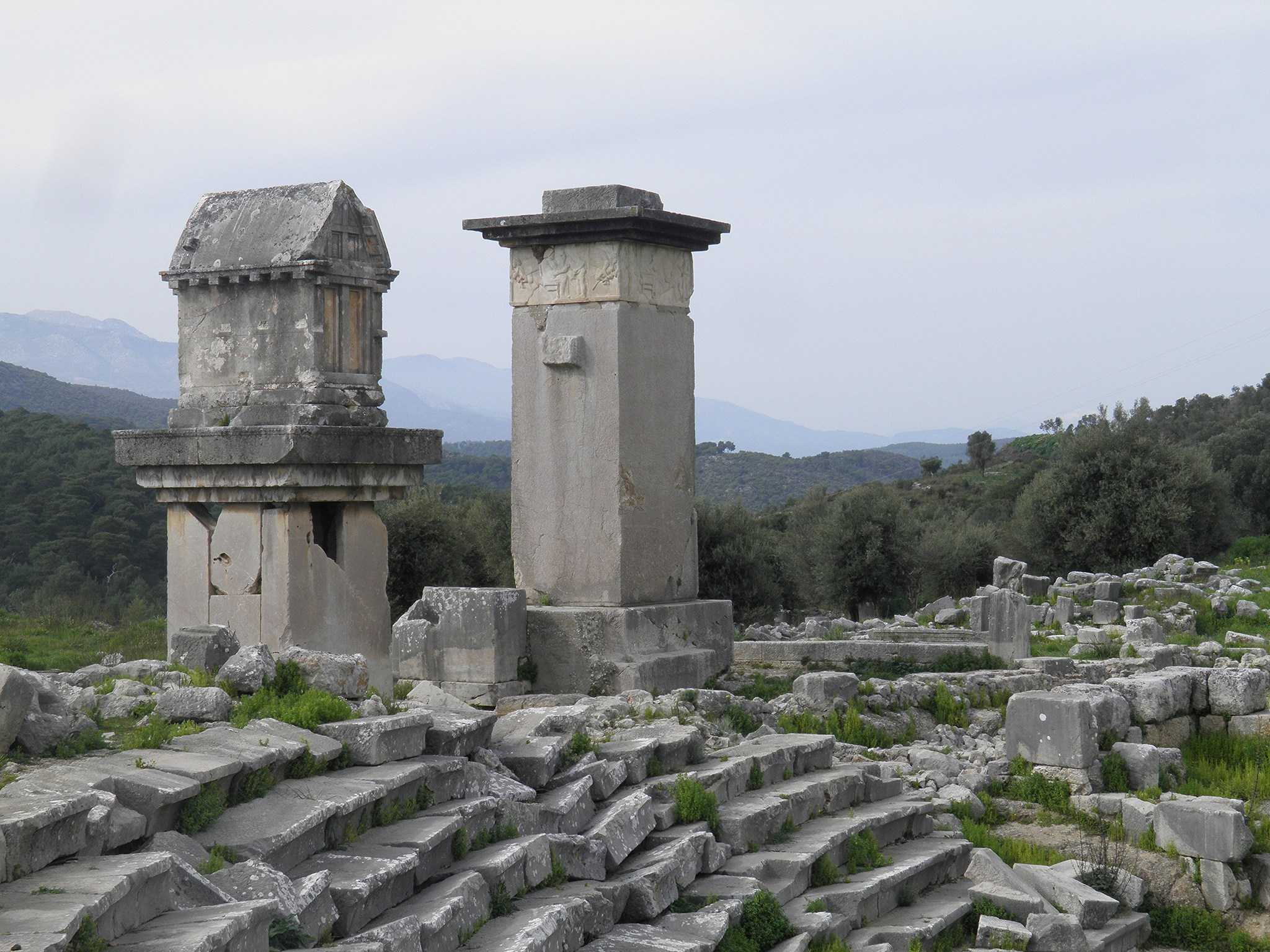 Harpy Monument and other Tombs in Xanthos | Photo by Carole Raddato