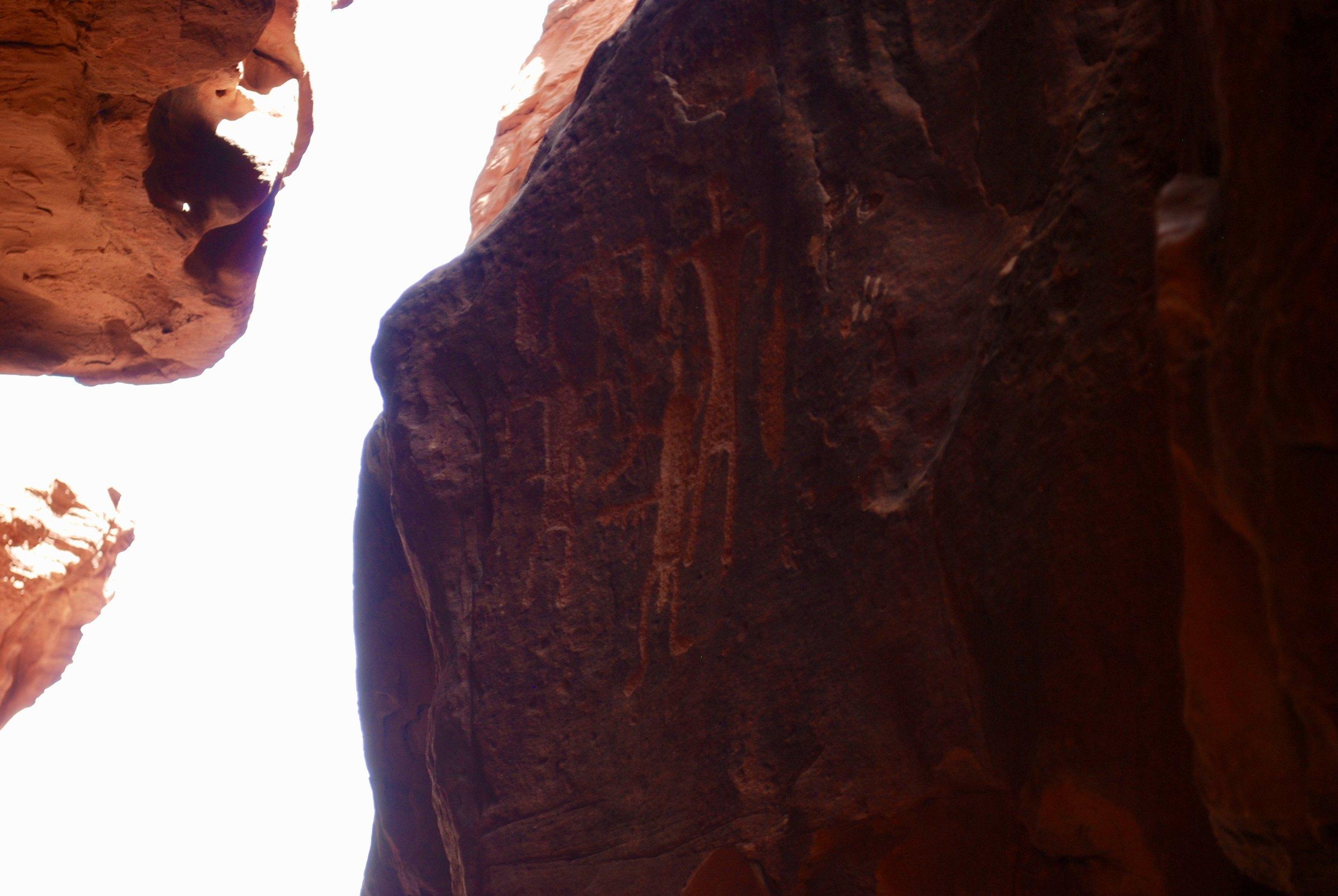 Nabatean Inscriptions Khazali Canyon, Wadi Rum