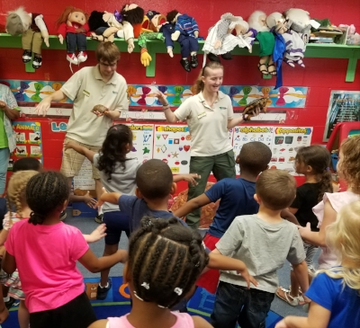 The Clear Water Nature Center teaches us a lot about reptiles!