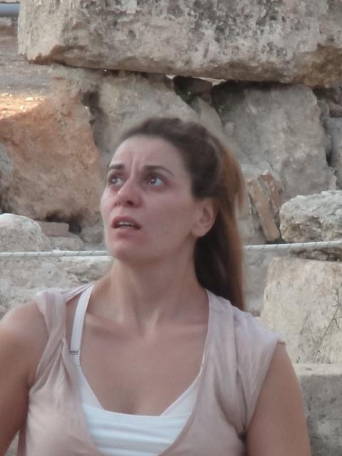 Maria-Olga Athinaiou work on Medea in Epicavros.