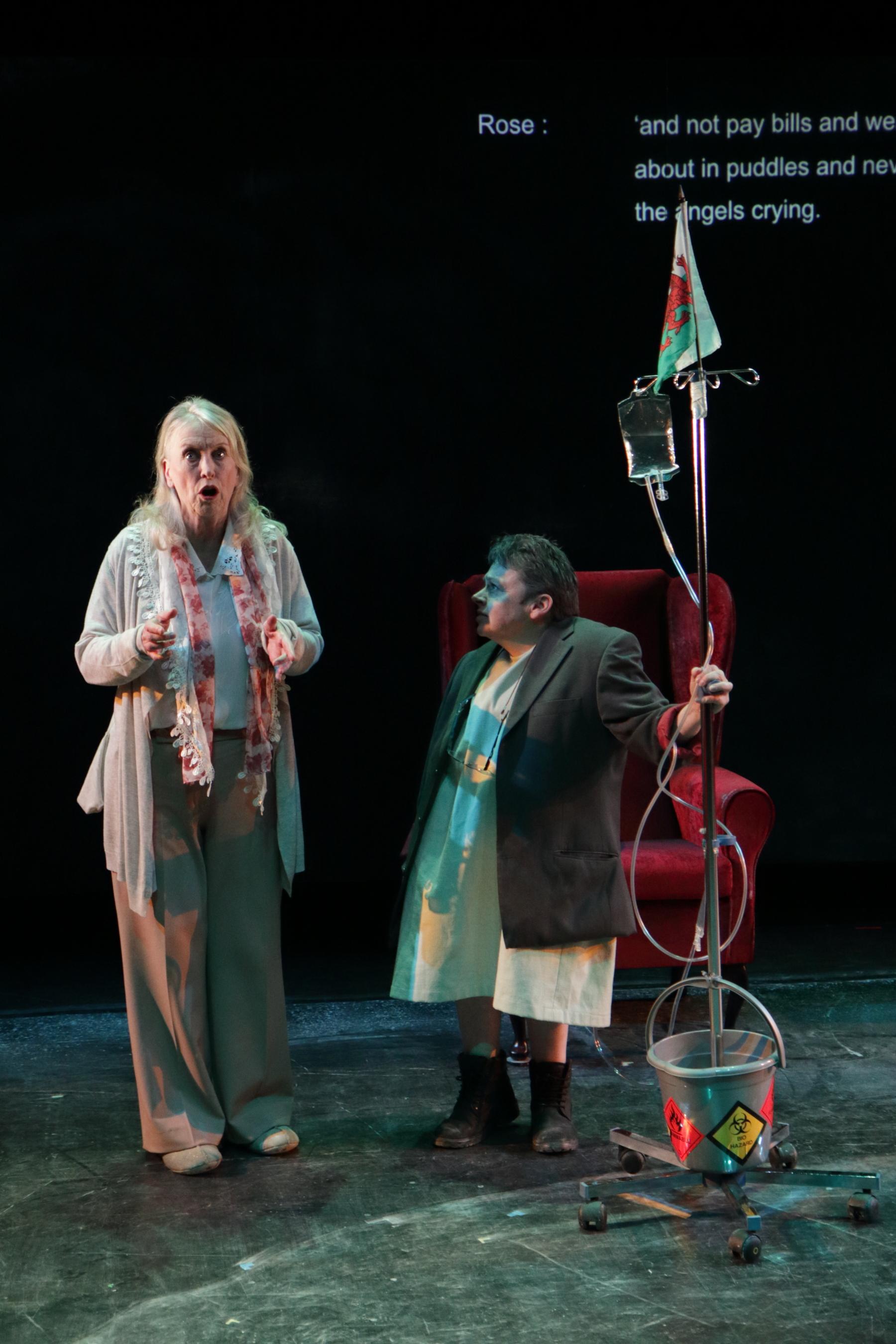 Sharon Morgan as Rose and Sara Beer as Maureen in  Cosy.