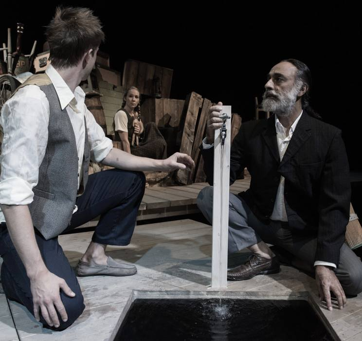 Ivar Furre and Navtej Johar as Man 1 and Man 2 with The Girl in the junk heap. Scene 2.