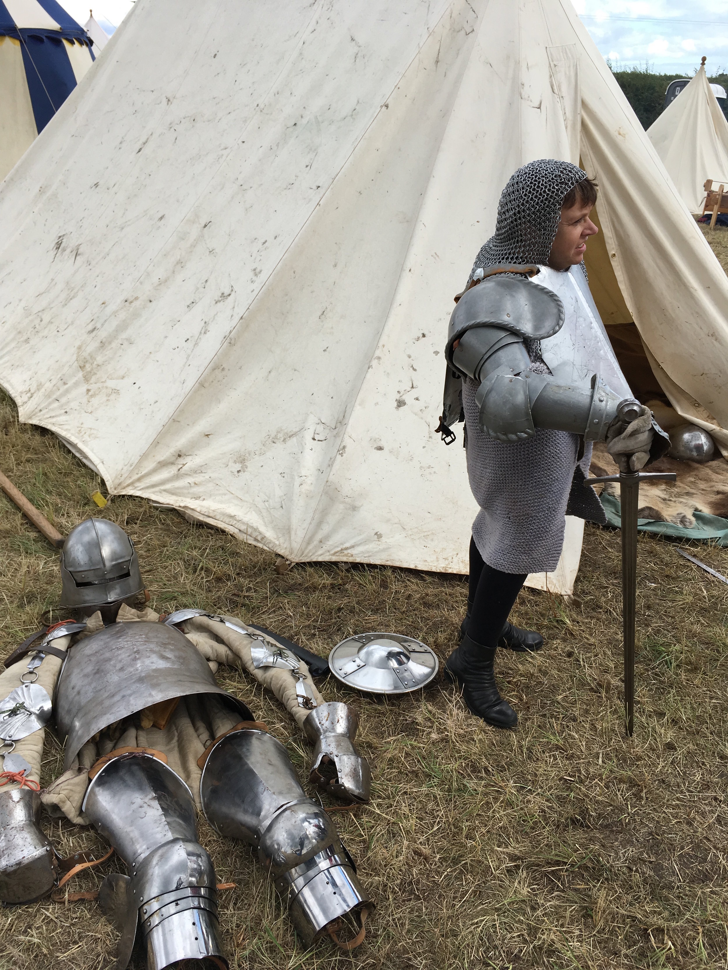 Sara Beer at the 2017 re-enactment of the Battle of Bosworth