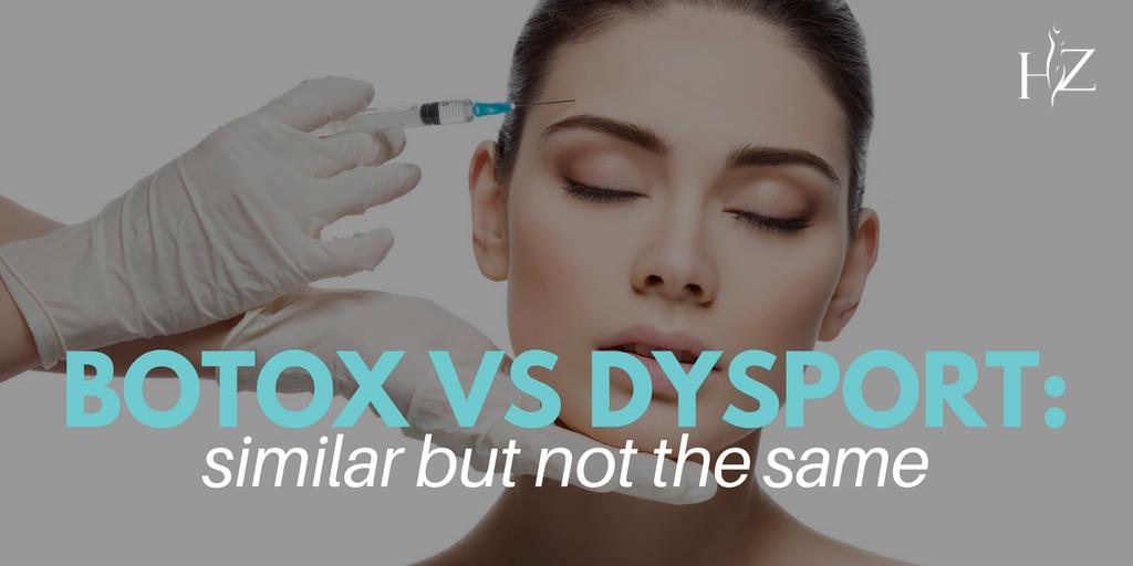 botox vs dysport, dysport vs botox, difference between dysport and botox