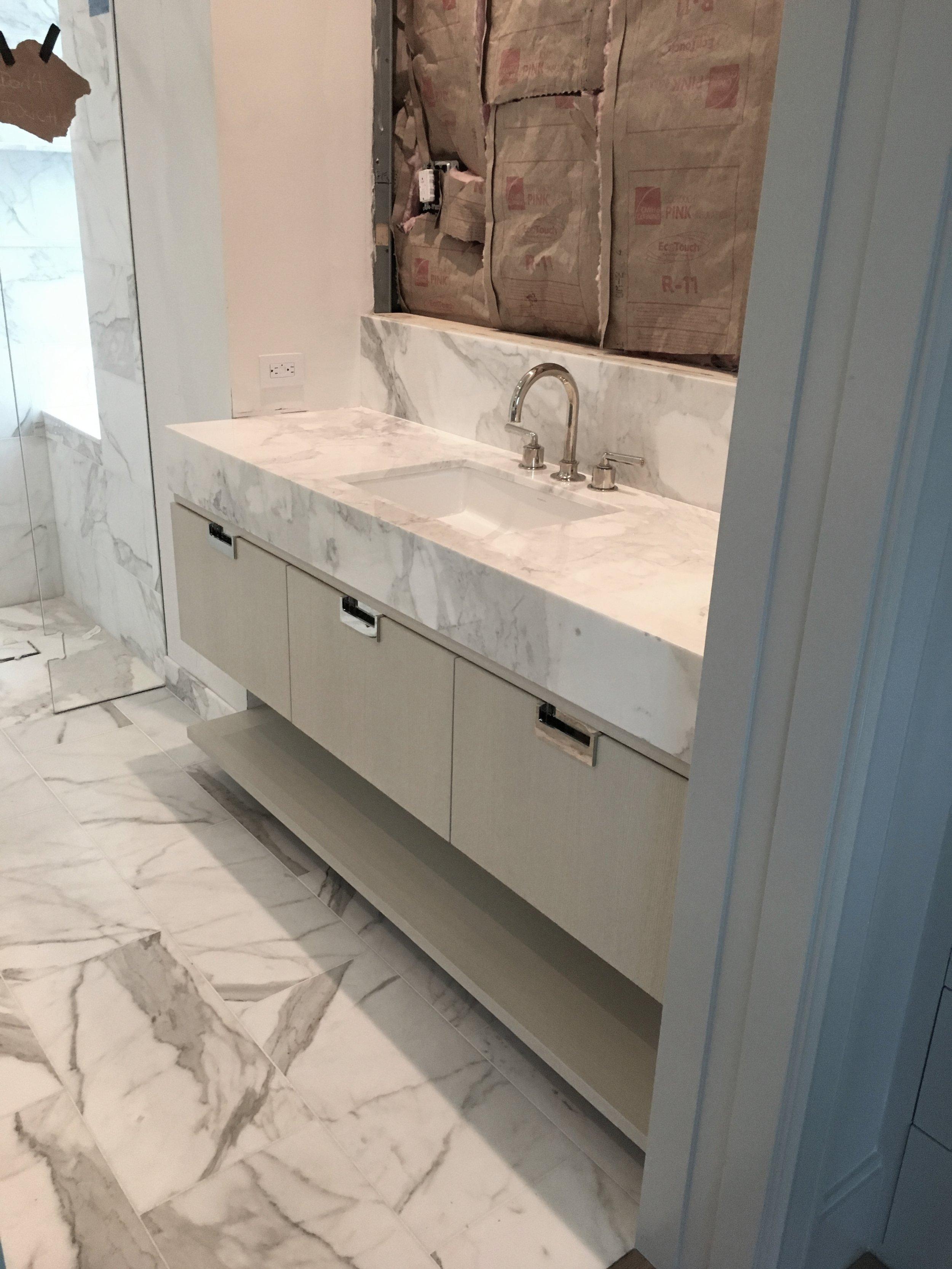 Amy Meier Design - Marble Master Bath