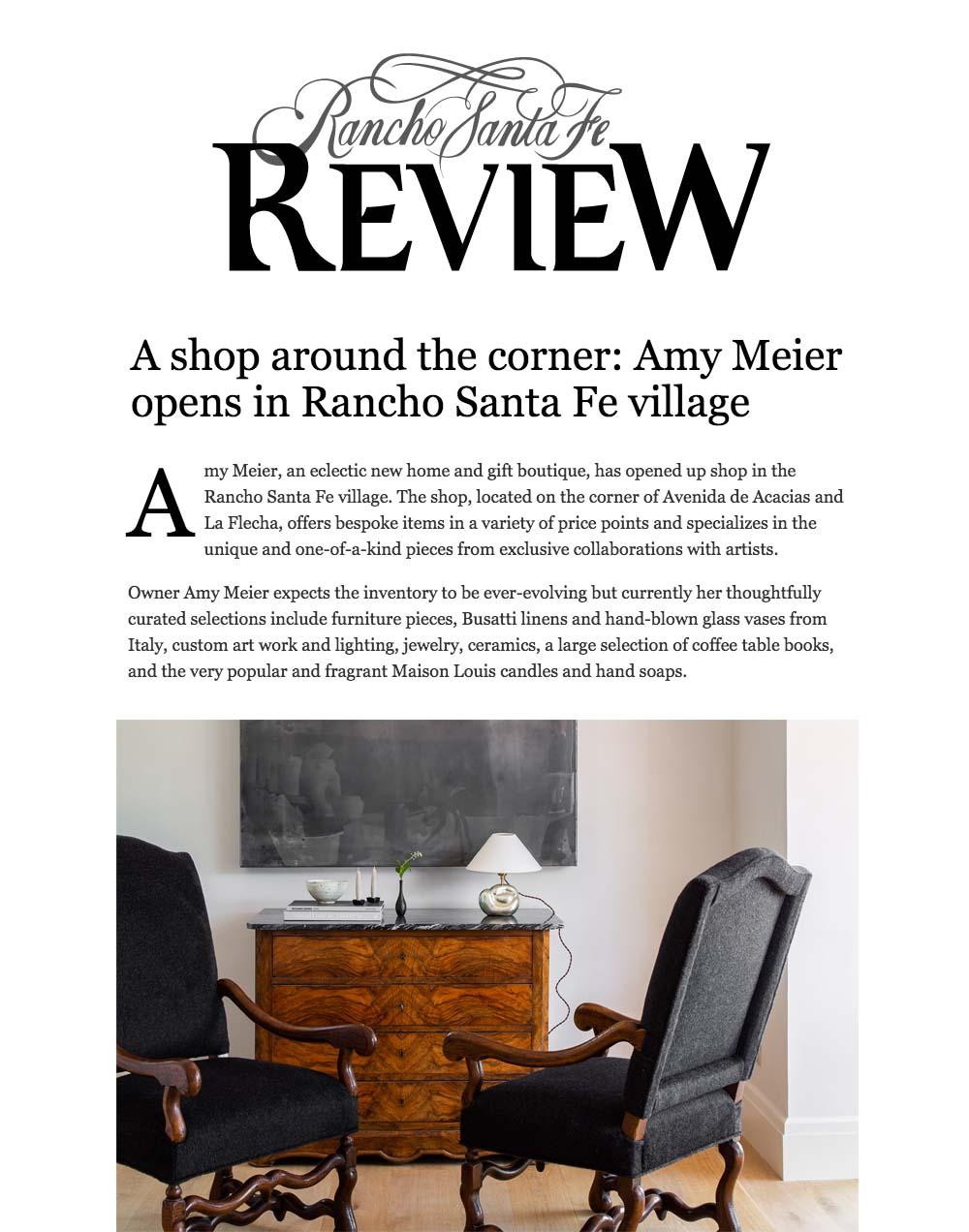 Amy Meier - Rancho Santa Fe Review