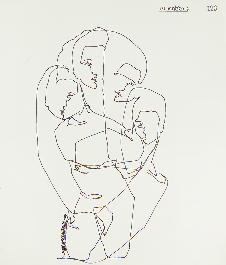 Continuous Line Series #123 (SOLD)