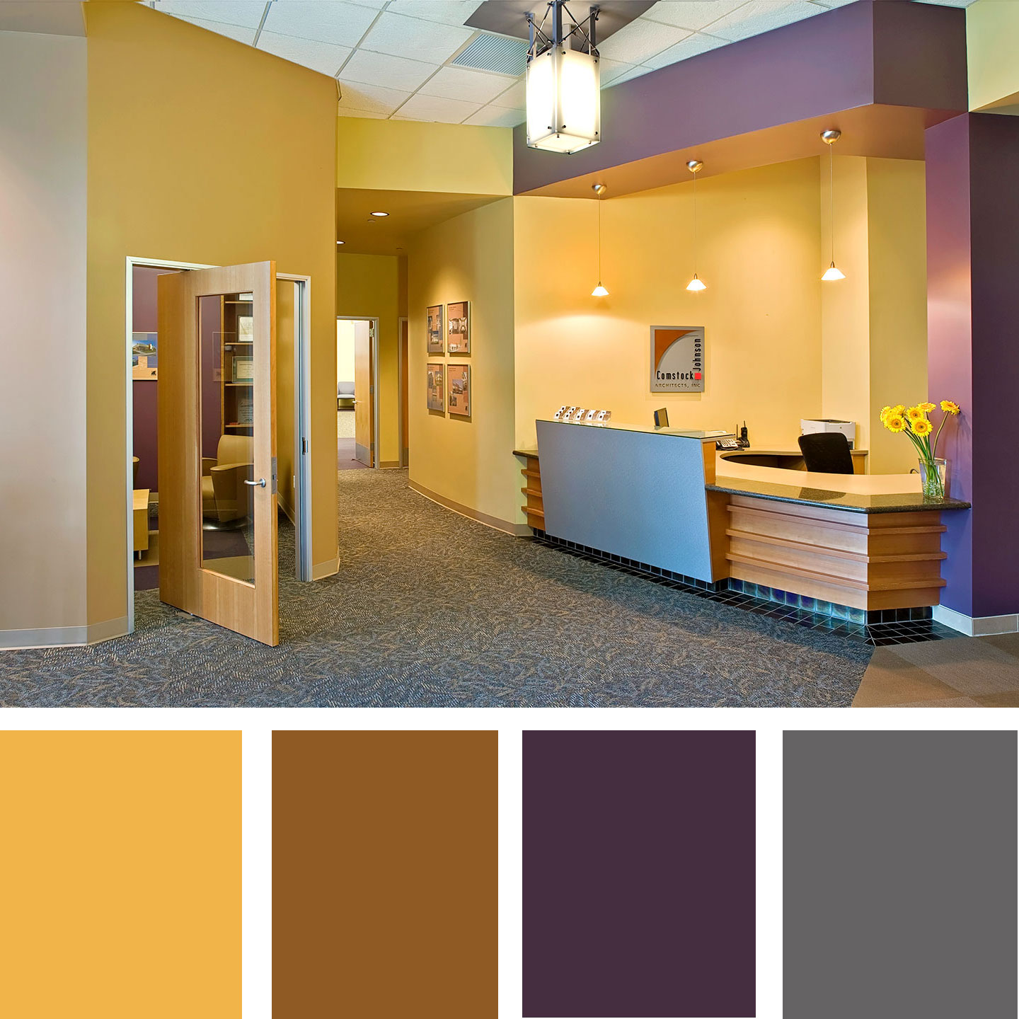 How To Pick A Color Scheme For Your Workplace Comstock Johnson Architects