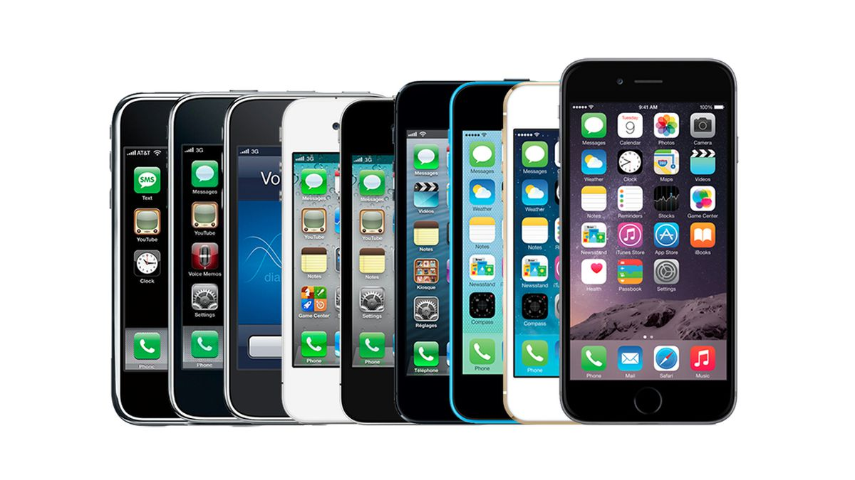Generations of iPhones