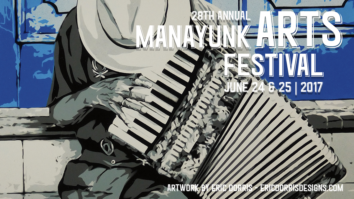 Join me at the Manayunk Arts Festival June 24-25, 2017