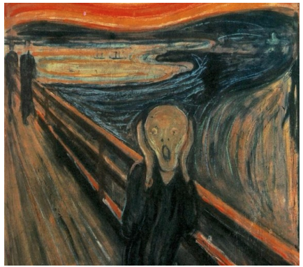 The Scream, Edvard Munch, 1893, oil, tempera & pastel on cardboard, National Gallery (Norway)