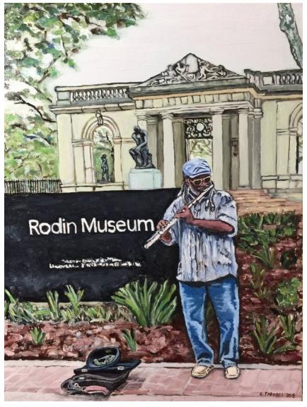 Music at the Rodin Museum, Philadelphia PA