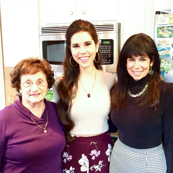 JoAnn (my mom), Nicole (my daughter), and me! In the kitchen (of course), preparing for Thanksgiving dinner.