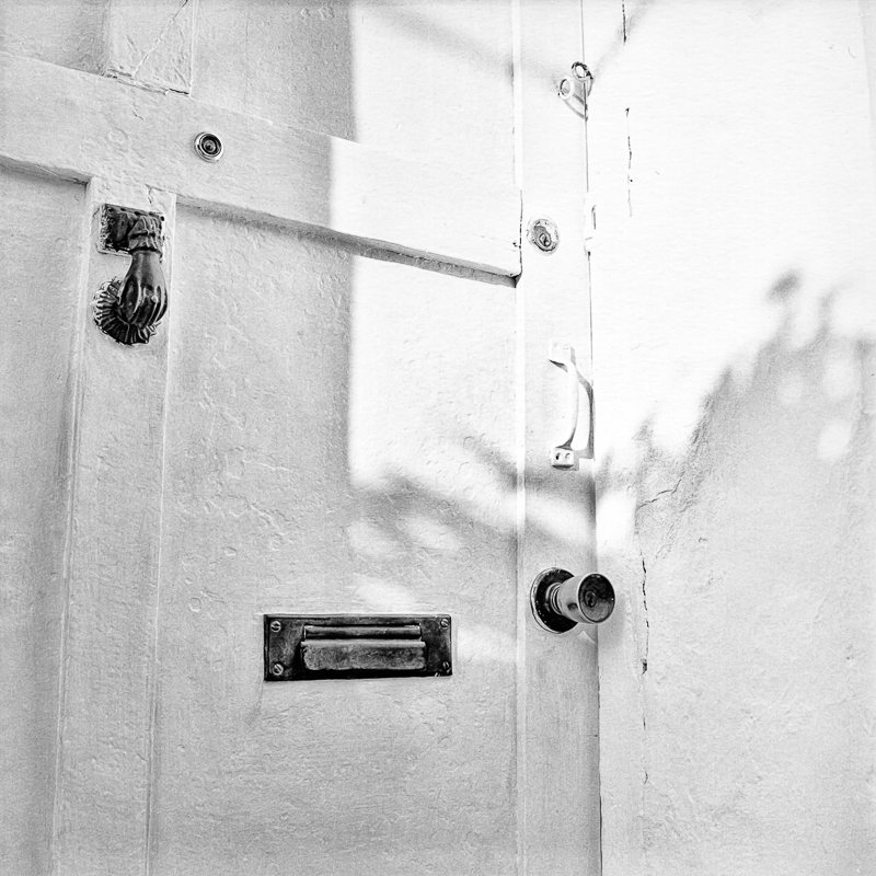 White Door with Knocker, Mazatlan