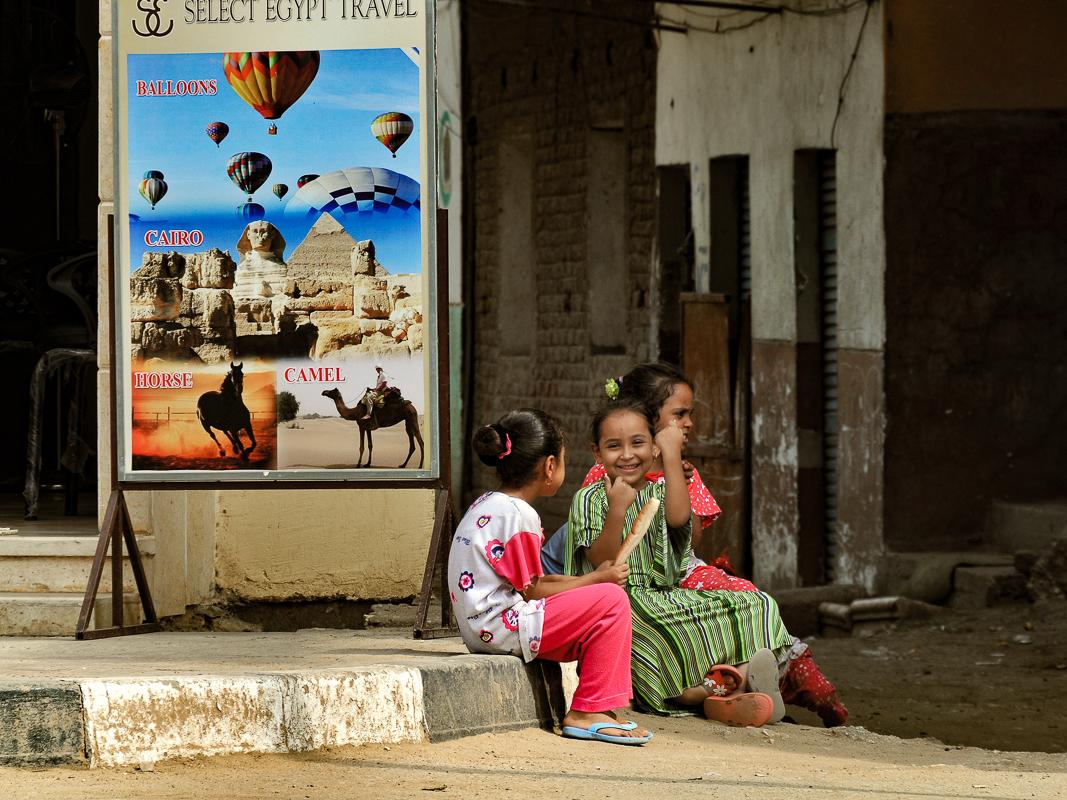 Three Little Girls, Cairo, Egypt