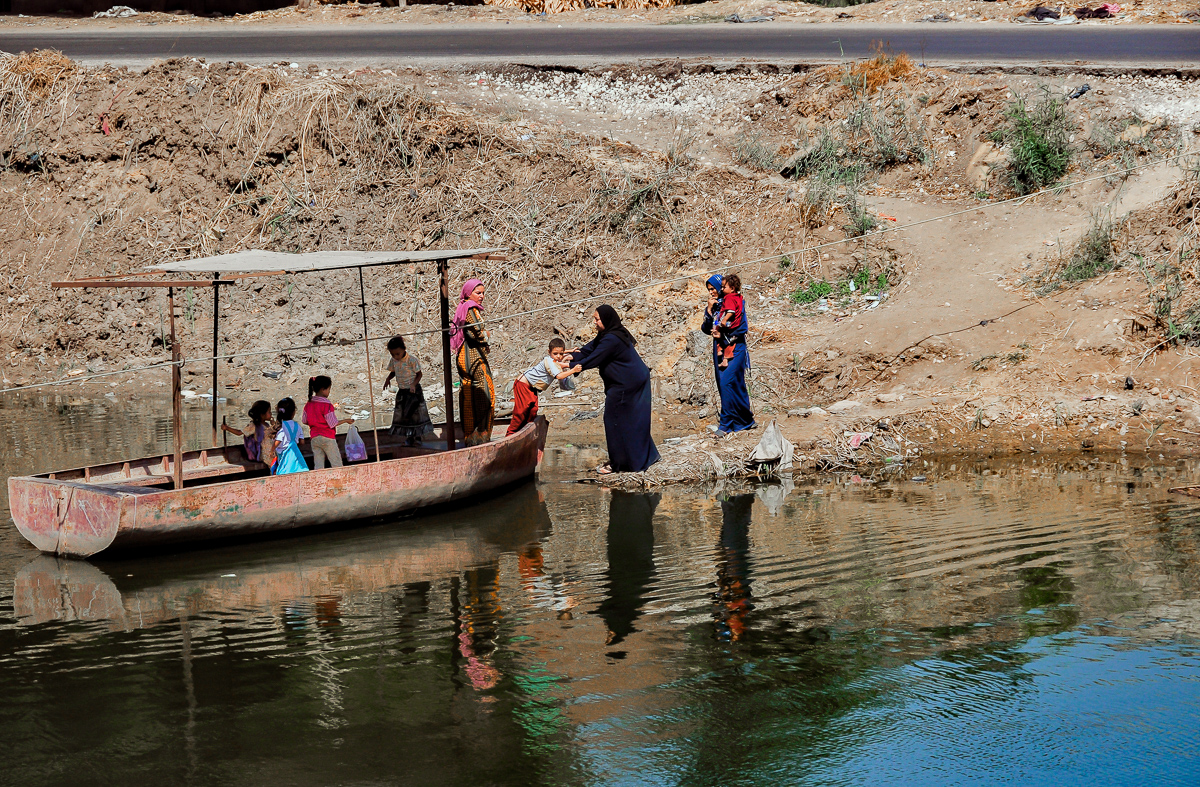 Women, Children and Boat, Cairo, Egypt