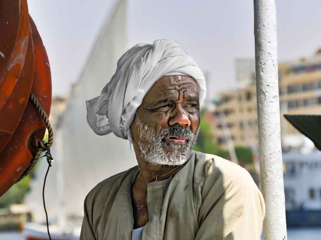 Felucca Boatman, Luxor, Egypt