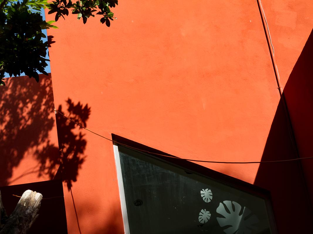 Orange Wall, Playa del Carmen, Mexico