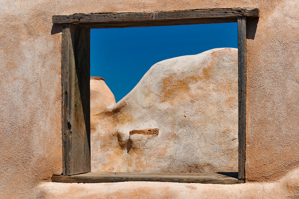 Adobe Walls and Blue Sky, Arizona