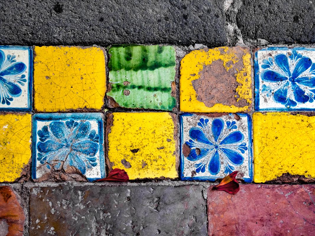 Church of Acatepec Courtyard Tiles, Mexico
