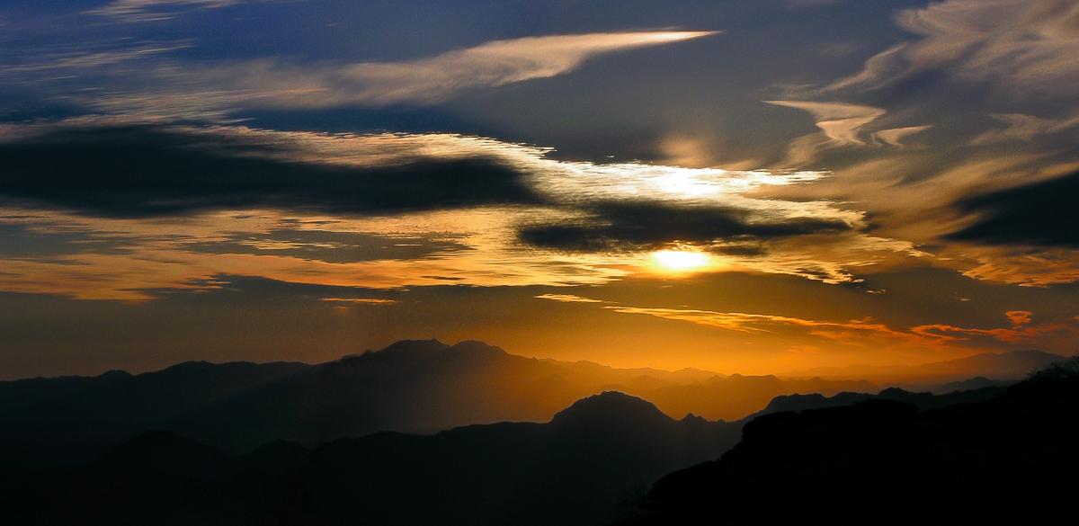 Gates Pass Sunset, Arizona