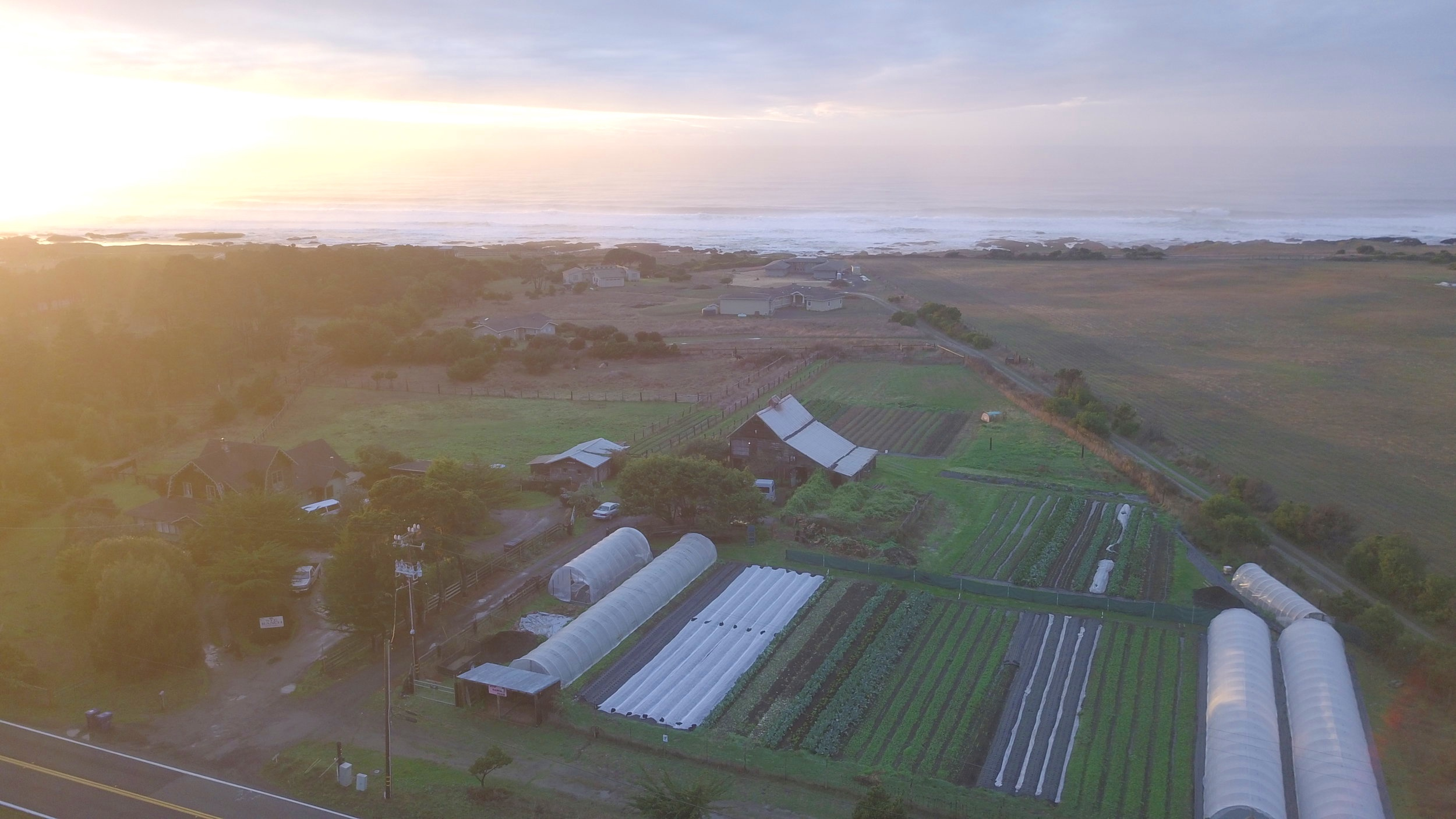 farm stand in the bottom middle of photo.  23300 N. HWY 1 Fort Bragg, CA 95437