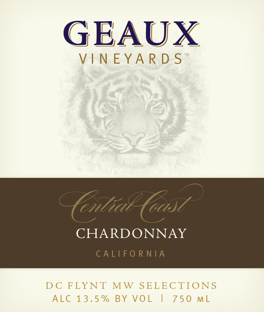 Geaux Vineyards Central Coast AVA Chardonnay is impacted from the cool temperatures from San Francisco Bay to the Santa Barbara coast. Steep, exposed hillsides and sun-drenched valley sites maximize the positive effects of warm days and cool nights to create this classic Chardonnay with elegant notes of citrus, apple, pear and hazelnut and bright acidity building to a long lingering finish.
