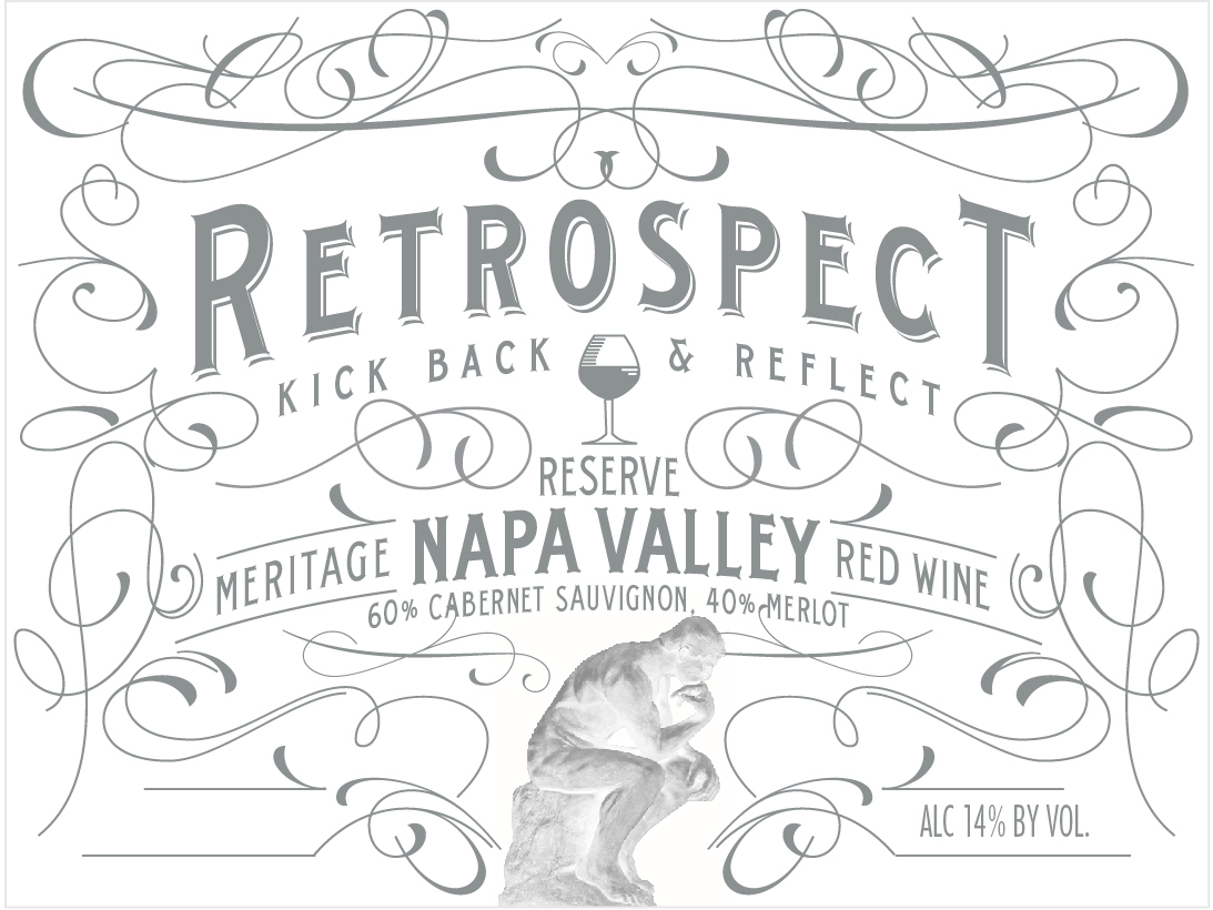 Retrospect puts everything right. Looking at Napa Valley with clear vision, it is hard to find a better place in the world for the production of high quality Cabernet Sauvignon and Merlot. The classical blend of these two major grape varietals combines the soft supple tannins and red fruit character of Merlot with the Cabernet Sauvignon's black fruit character, elegance and grip.