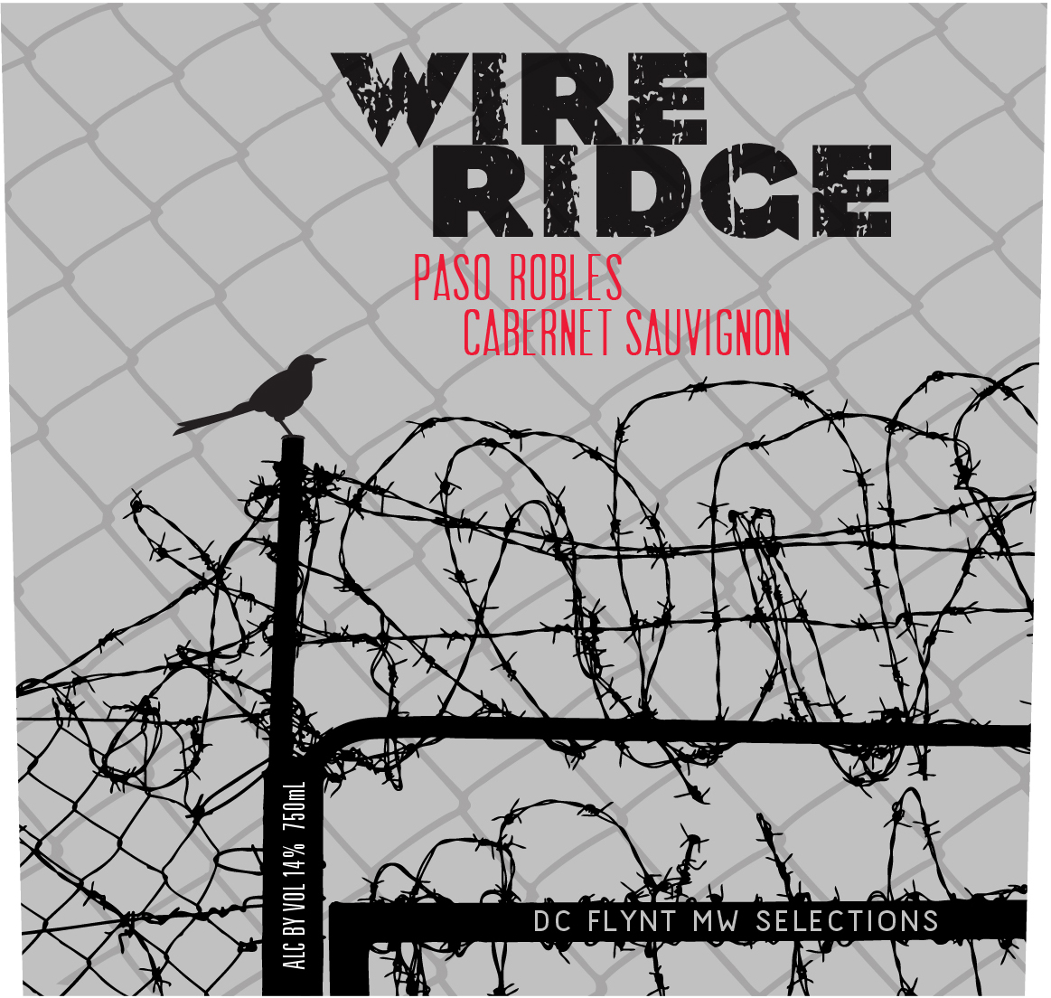 Wire Ridge Paso Robles Cabernet Sauvignon benefits from long, warm and dry growing seasons. At Wire Ridge the deep, dark, black cherry, blackberry and cassis notes of Cabernet Sauvignon develop to their fullest with more intensity and sweeter notes of cedar wood and mocha.  The tannins become riper and suppler, balanced with lush, concentrated, mouth-filling fruit.