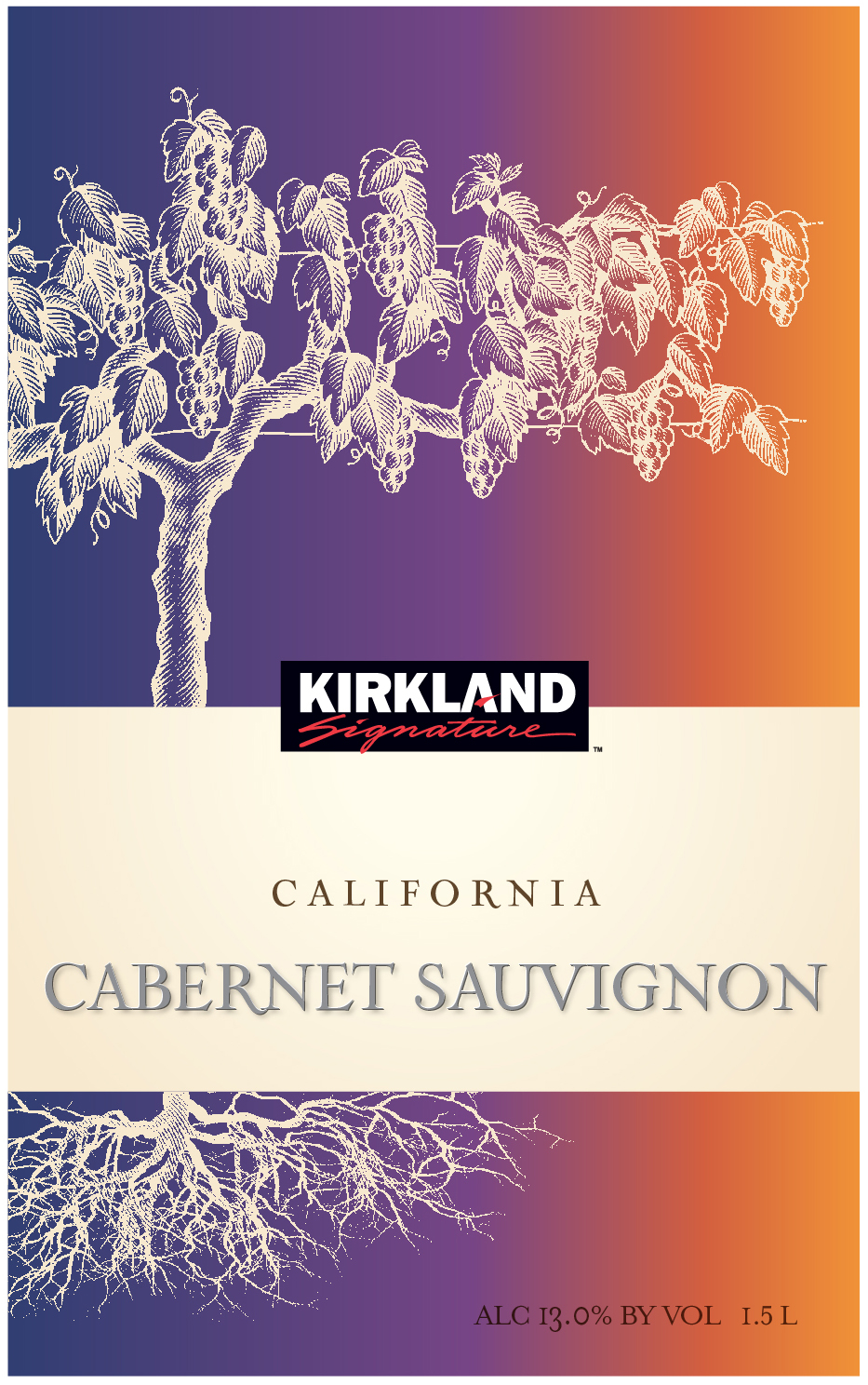 Kirkland Signature California Cabernet Sauvignon is a classic Cabernet Sauvignon with vibrant, juicy flavors of black currant with broad, red fruit notes that linger on the palate and are surrounded by hints of spice and sweet smoke with a graceful finish of cherry and mocha.