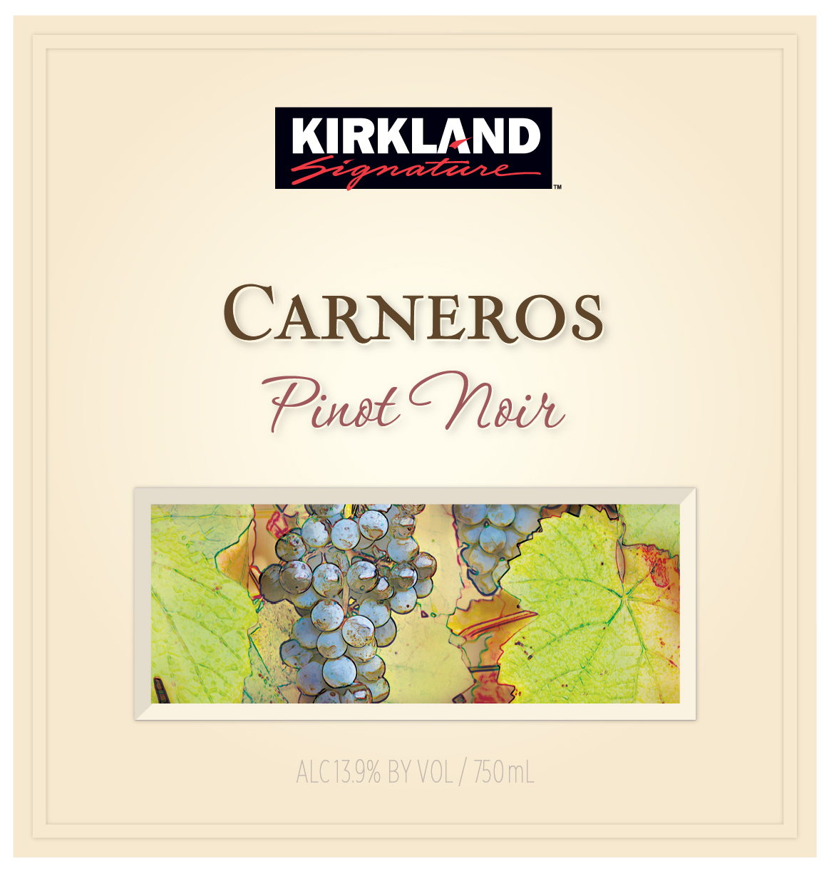 """The Kirkland Signature Carneros Pinot Noir is a blend of richness and elegance.  The Napa Valley edge of Carneros provides aromas of ripe cherry and rhubarb counterbalanced by darker, black fruit and forest floor notes from the western slopes.  This is a classic Carneros Pinot Noir displaying rich aromas and complex flavors woven together with a hint of spice from French oak barrels."" ALISON CROWE, Winemaker."