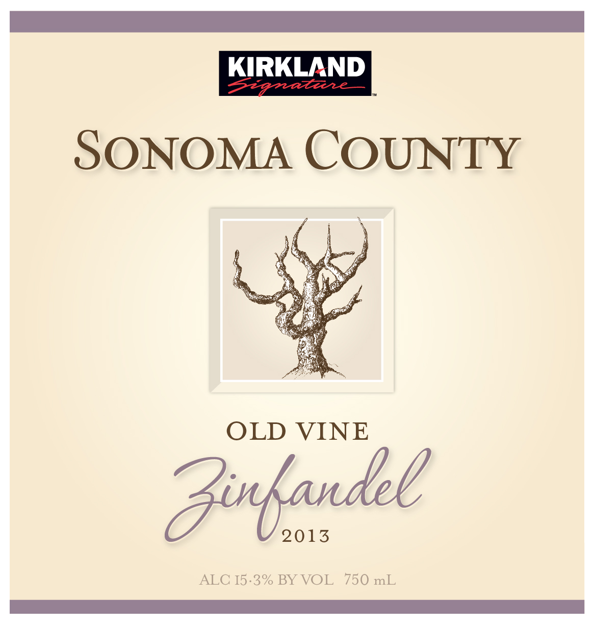 This estate-produced Zinfandel comes from a collection of archival vineyards that have been home to Zinfandel for more than 150 years. The Kirkland Signature Old Vine Zinfandel is produced from low-yielding vines that average 45 years of age. This classic Old Vine Zinfandel has opaque shades of deep red-purple fruit with a bouquet and palate structure of blackberry, cassis, blueberry and chocolate, which is supported by vanilla and spice notes from oak maturation and lifted by bright acidity and supple, ripe tannins.