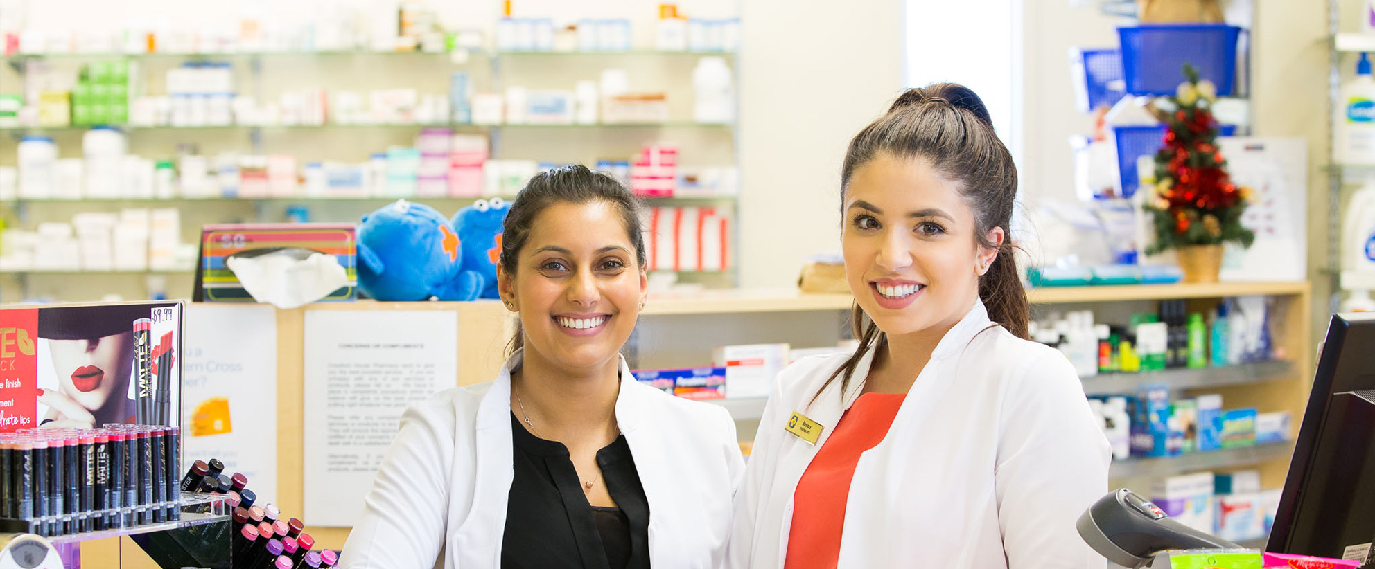 Onsite Pharmacy Available 8am to 6.30pm weekdays and Saturdays 9am-midday!