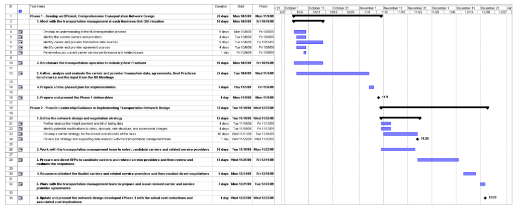 Example Project Plan