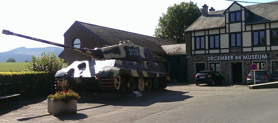 Tiger Tank found in La Gleive, Belgium, a crucial site for stopping the German advance, Battle of the Bulge.