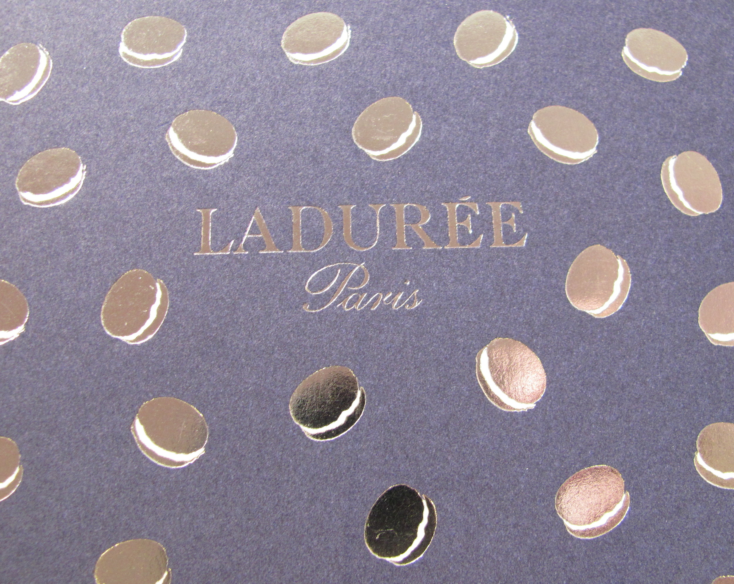 Even the Laduree boxes are gorgeous.