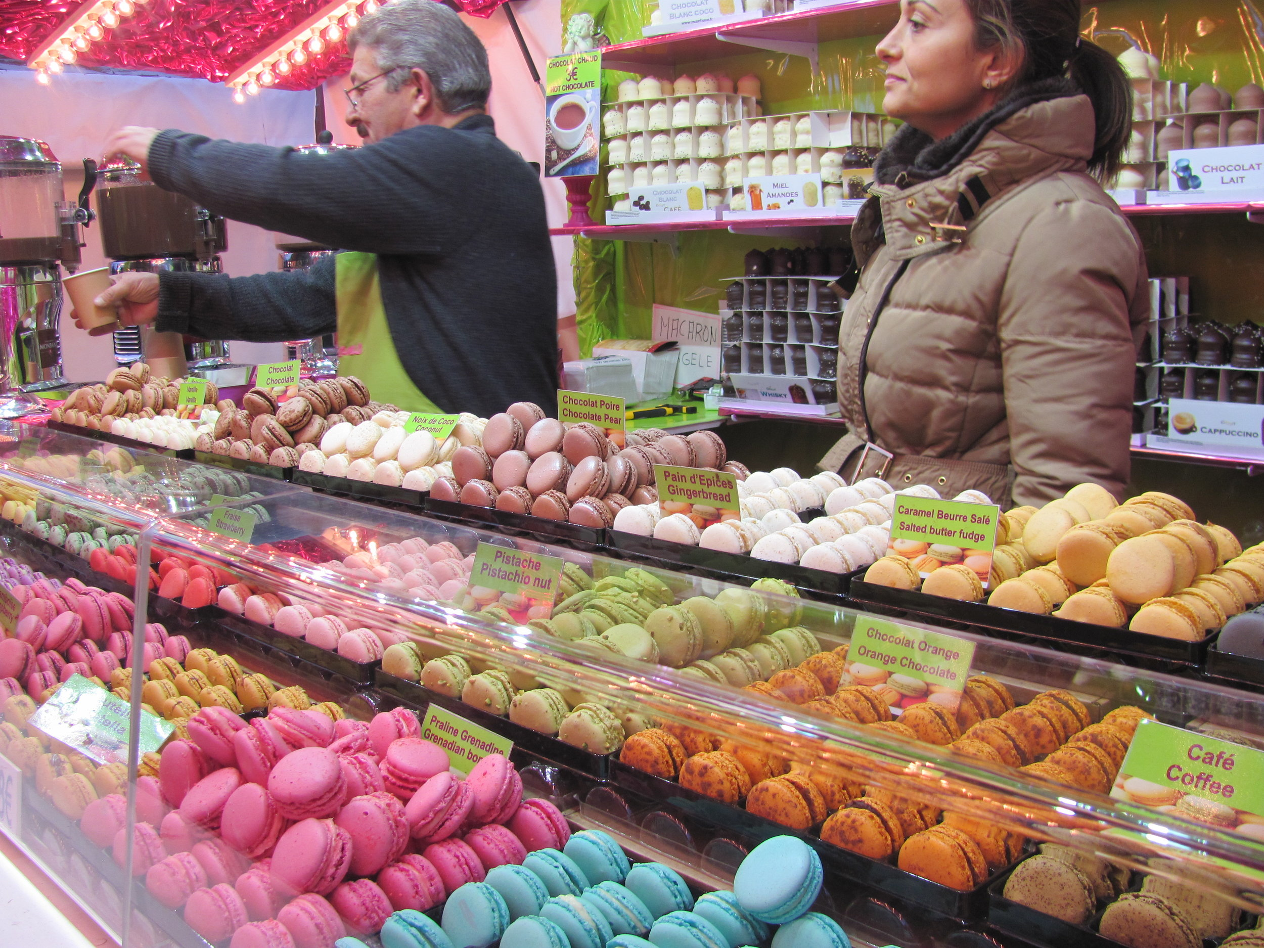 Christmas market in Arras; every flavour you can imagine.