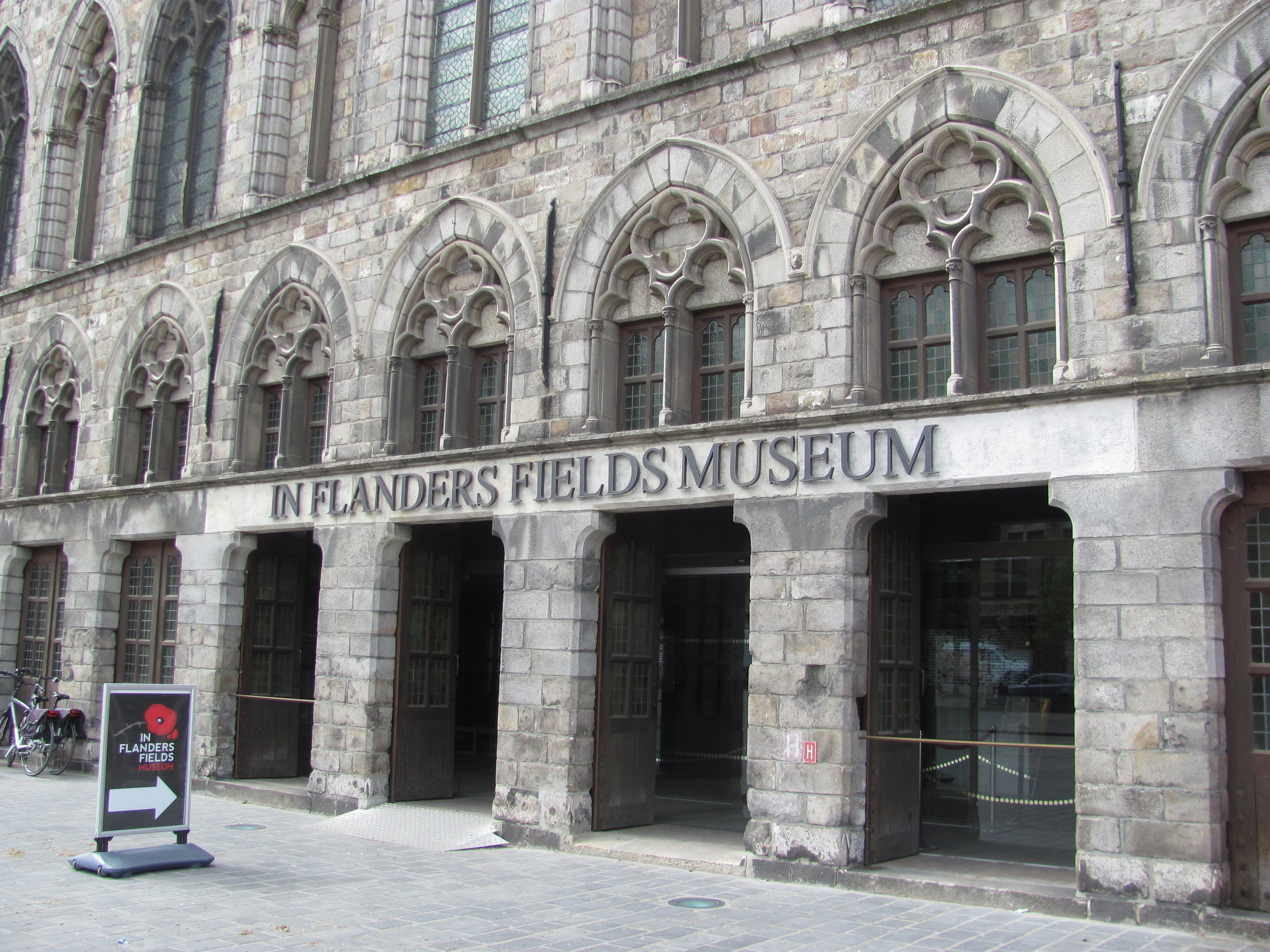 The recently renovated immersive museum in the Cloth Hall, Ypres.