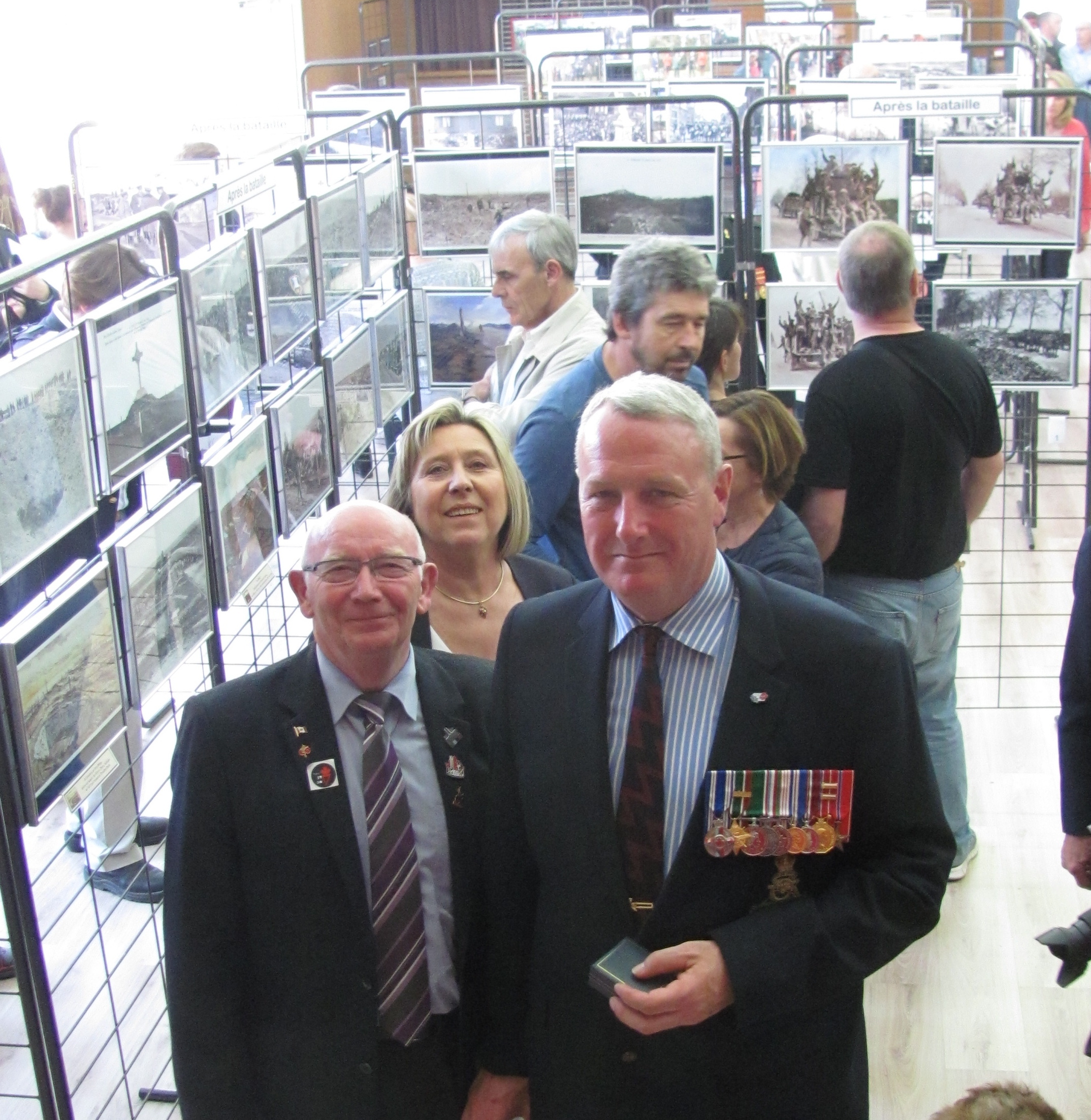 Mayor Bernard Milleville and David at the photo exhibit - some extraordinary images I have never seen before from family photo collections and town archive.