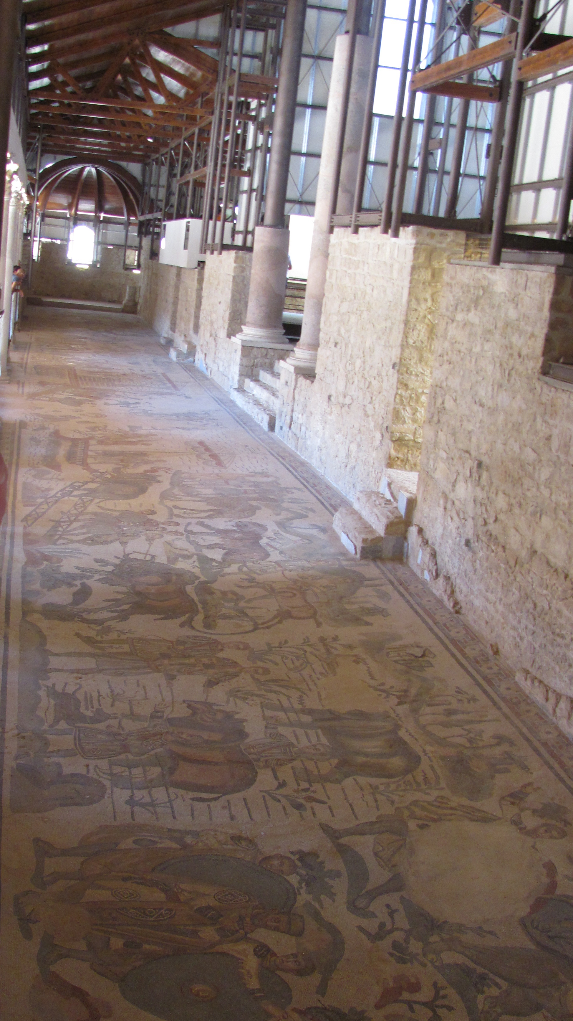 Floor and wall mosaics