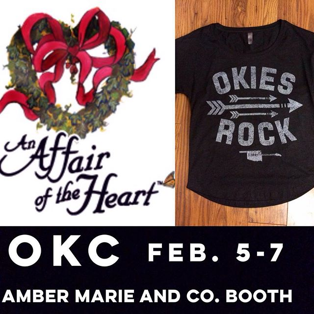 OKC FOLKS! You can get our gear at @ambermarieandco's booth at Affair of the Heart this weekend!! Make sure to give us a shout out if y'all stop by! #okiesrock #affairoftheheart