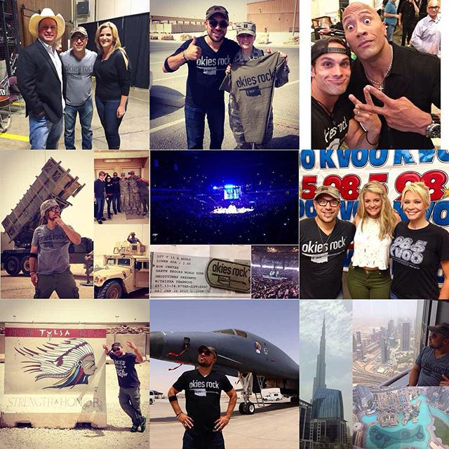 @garthbrooks, @therock, @laurenalaina, @dubai, and b51 bombers?! 2015 has definitely rocked! Thank you Okies for making this year amazing! #OkiesRock #bestof2015